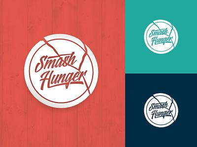 Smash Hunger - WIP hungry broken break dish plate hunger smash logo design identity branding logo
