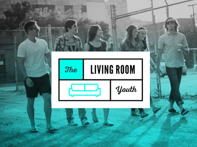 Living Room Youth - WIP badge couch living room room living youth ministry youth logo church logo design identity branding logo