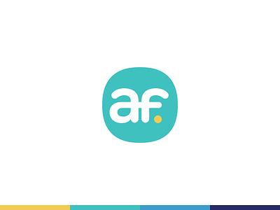 AF Logo Teaser squircle af logo design identity branding logo