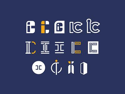 IC... more options monogram line art letter c letter i logo design identity branding logo