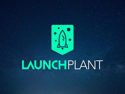 Launch Plant - Church Plant Creative new church stellar startup spaceship launch space rocket church creative church plant logo design logo branding