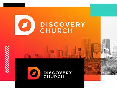 Discovery Church Logo church logo logo design logo church church plant branding letter d direction discover compass edmonton