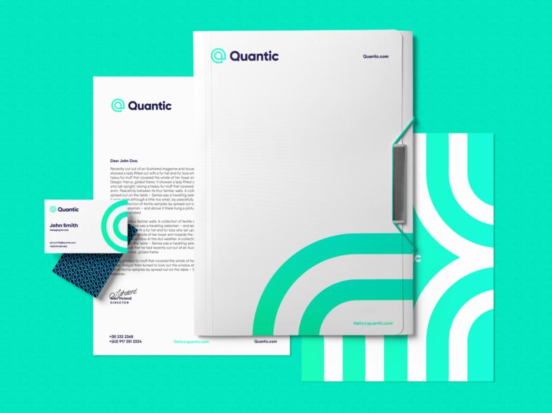 Quantic Stationery innovative identity graphic design design logo device finder company branding design branding brand identity