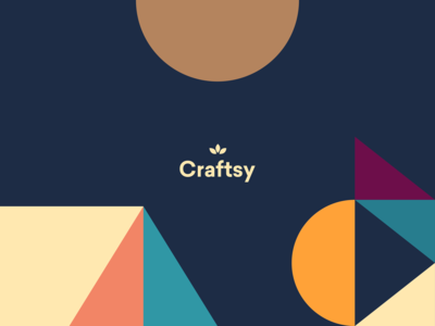 Craftsy - Logo geometric branding geometric illustration visual identity visuals craft paper colorful design modern clean color palette cheerful colorful craftsy logo graphic design branding design branding brand identity
