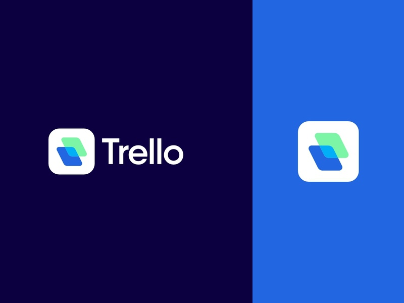 Trello Logo visual identity illustration design modern identity logo graphic design branding design branding brand identity