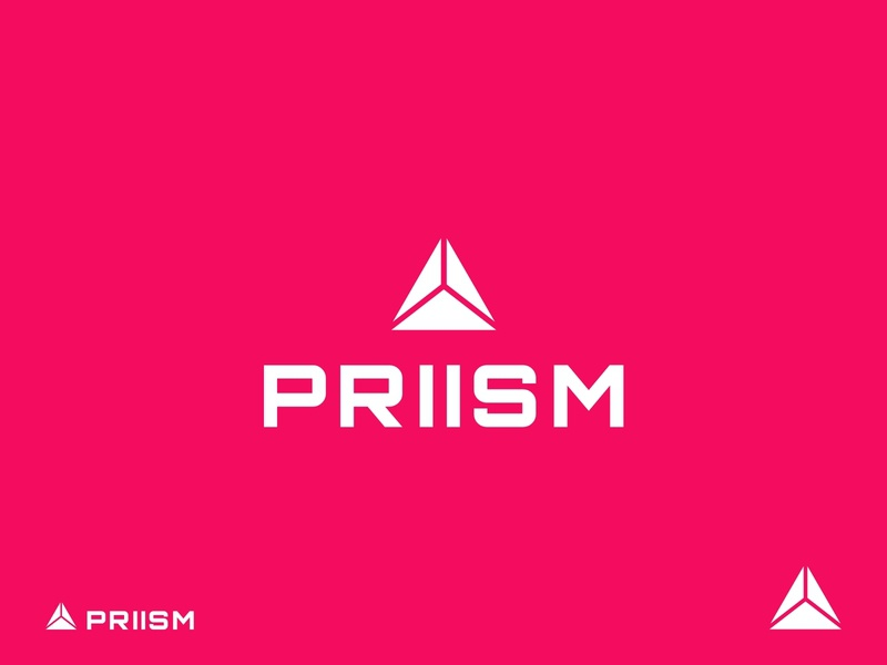 PRIISM Brand modernlogo geometriclogo triangle geometric logos red priism logodesign logotype logo design design modern graphic design logo branding design branding brand identity
