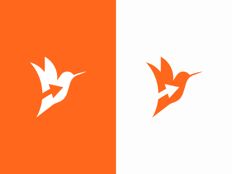 Hummingo Color Variations brandmark logomark branddesign orange logocolors graphic design courier hummingbird logo hummingbird logovariations logodesigns logo brand design branding