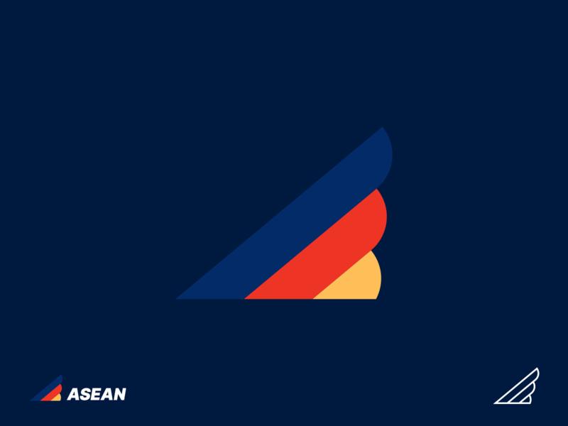 ASEAN winglogodesign wings winglogo aseanidentity logoidentity logodesignchallenge logo graphic design branding brand design brandidentity logo2019 aseanlogochallenge aseanlogo asean