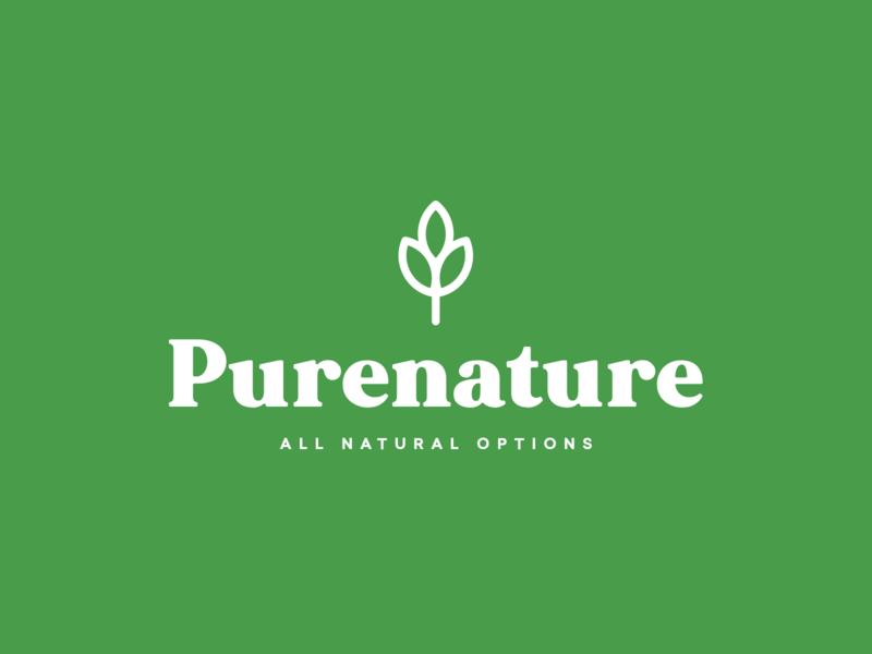Purenature Branding pure nature agricultural logo design flat logo simple identity design modern agricultural branding design logo brand identity graphic design branding