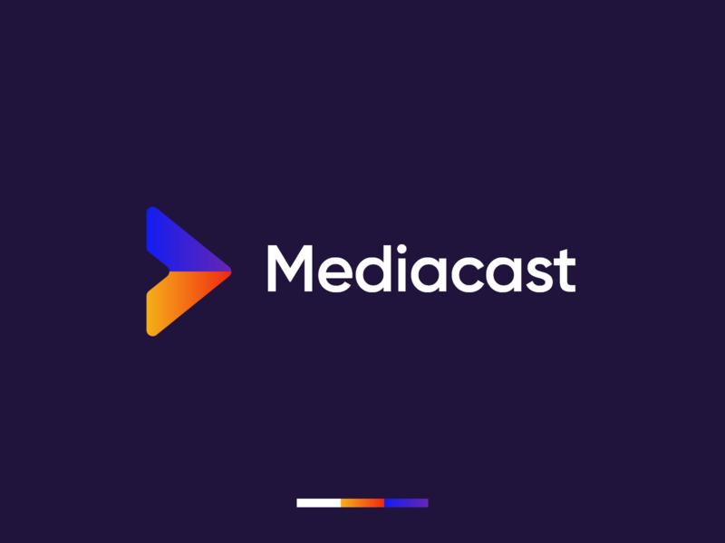Mediacast Rebrand Concept marketingdesign marketing media visual identity logodesign brand design company identity modern logo graphic design branding design brand identity branding