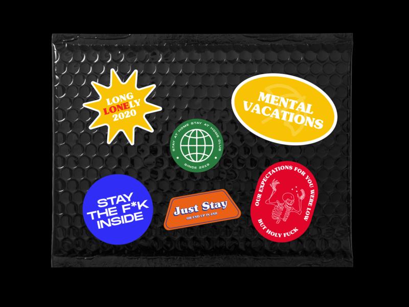 Mental Vacations in Mockup mockups ai illustrator illustration sticker art graphic art mental health covid19 stickers graphic illustrations illustrations branding design brand identity graphic design logo branding