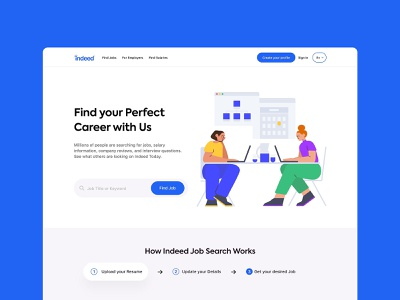 Indeed Landing Page figma adobexd kalibrr jobstreet job jobfinder indeed websites webdesignagency website concept website design webdesigning web design webdesigner webdesigns website web webdesign ux ui