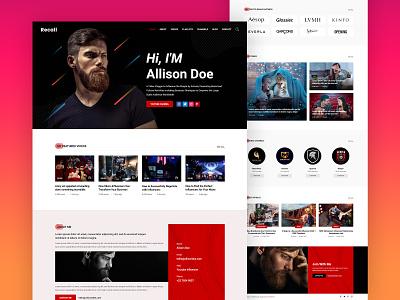 Recall - Angular 9 Influencers Portfolio Template web design landing page design landing page website design portfolio influencers influencer influencer marketing creative design