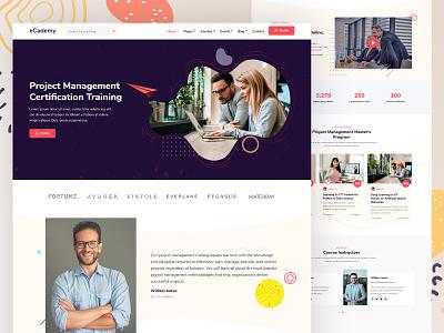 eCademy - Education & LMS WordPress Theme creative design online courses elearning online school project management online training website design online learning education distant learning