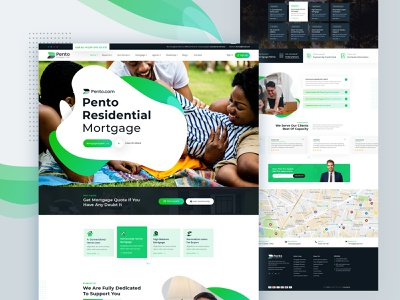 Pento - Real Estate Mortgage Landing Page Template real estate realestate property loan insurance leasing company corporate landing page design web design webdesign housing mortgage landing page creative design