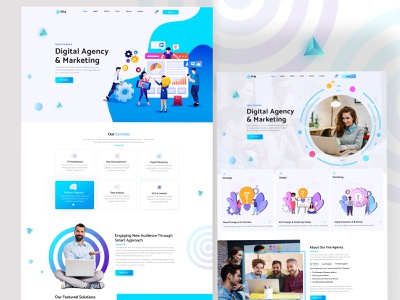 Fria - IT Startups & Digital Services HTML Template landing page website design trending technology technology startup seo company saas marketing company machine learning it company digital marketing digital agency deep learning data science data analysis business analytics creative design