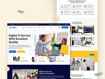 Techex - Technology Services Template tech company corporate landing page website website design creative design