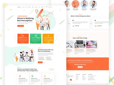 Laboratory & Science Research Website Template