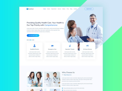 GoldMedi - Medical Health Care and Doctors Clinic HTML Template