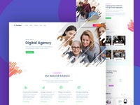 Digital Agency Landing Page Design Concept