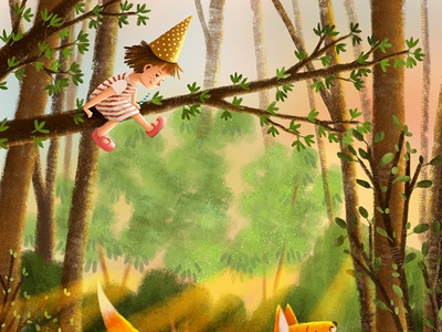 Book Cover Illustration For Easter Fairytale