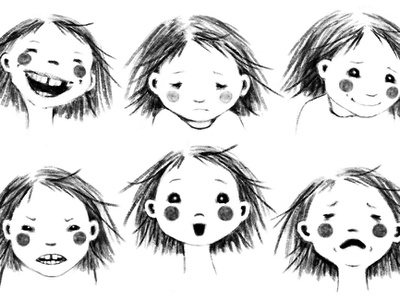 Kids Facial Expressions Sketch Illustration kidlit photoshop digital illustration kids illustration sketching childrens book illustration childrens illustration kidlitartist kidlitart kids sketch illustration expressions facial expressions faces characterdesign character design