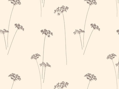 Dill Flower Repeat Pattern