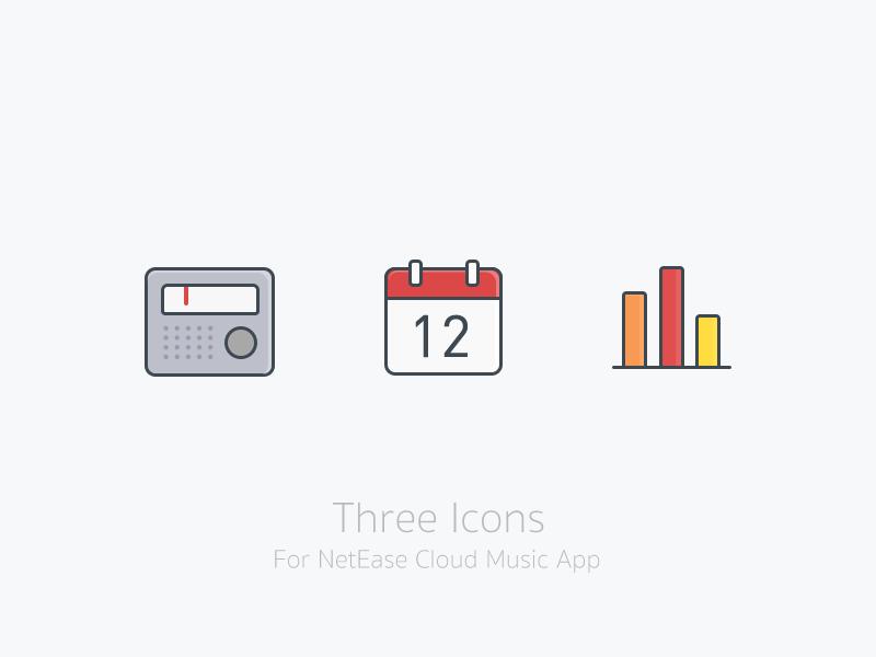 Three Icons app icons ui