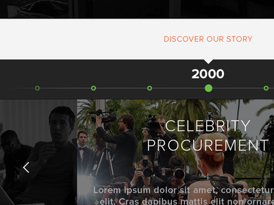 Company Timeline timeline node year flat design company scroll arrow time concept about celebrity