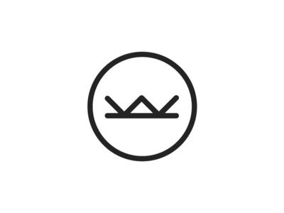 Personal Identity Refresh stroke lines thick badge emblem letter icon symbol monogram mark identity logo