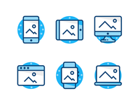 Blue Device Icons
