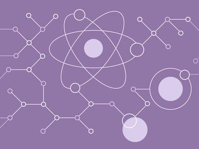 Building Components Illustration orbit illustrations components building organism science connections line atomic design molecule atom node