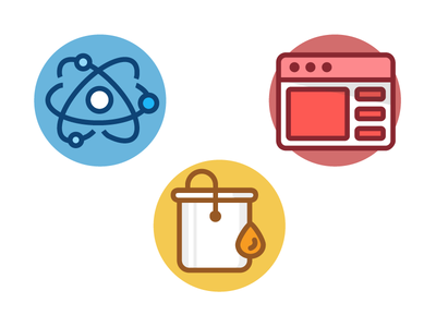 Components, style, and layout Icons ai illustrator vector illustrations layout style freebie shadows flat designs branding icons