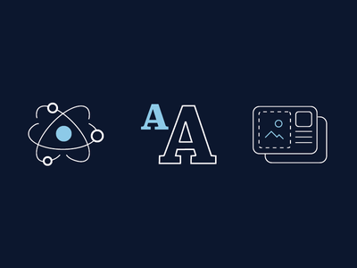 Style Guide Hero Icons illustration research type layout component style data science nebula atomic ui icons