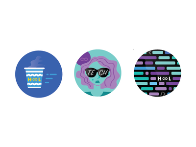 1inch Pins Woooo coffee greek fast women tech code diverse sunglasses branding cool illustration vector