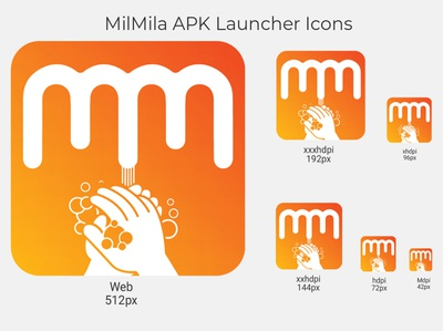 MilMila App Launcher Icon icon ux typography logo vector minimal illustration