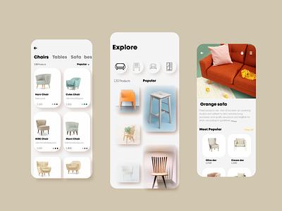 furnuture design app ui ux design