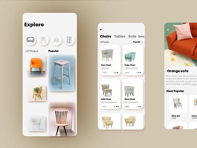 furniture design app 2 ui ux design