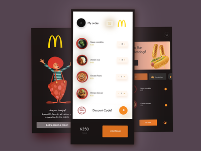 MC redesign app ui ux design