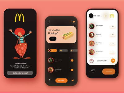 McDonald's redesign app ui ux design