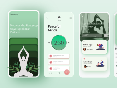 Keepyoga redesign illustration ui ux design