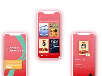 book app design flat web icon ui ui ux design
