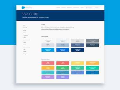 Salesforce Demo Center Style Guide front-end modules components css style style guide