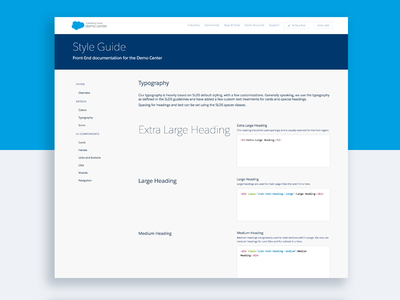 Salesforce Demo Center Style Guide style guide style modules front-end css components