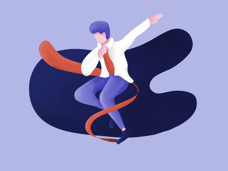 Jump and Dance character texture mobile illustrators drawing web clean minimal ui design illustrator flat illustration