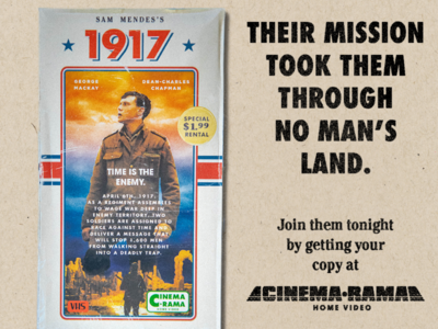 CinemaRama presents: 1917 VHS 1980s 1990s retro vhs box vhs art vhs movie 1917 graphic design cinemarama