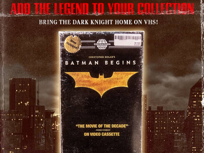 Batman Begins VHS movie design graphicdesign vhstapes vhsedit vhs vhstape vhsart cinema cinemarama vhsforever