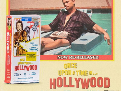 Once Upon A Time in...Hollywood VHS retro 1960s quentin tarantino movie vhs