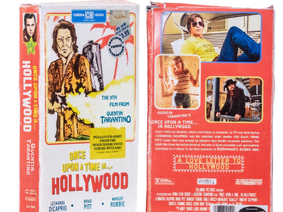 VHS Once Upon A Time Hollywood poster movies 1960s retro quentin tarantino vhs