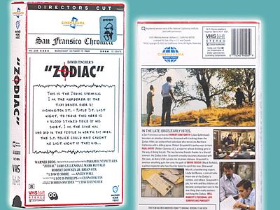 Zodiac on VHS zodiac design retro 1980s 1990s vhs